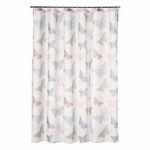 classics butterfly fabric shower curtain blue pink purple bath ebay