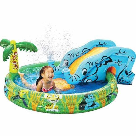 Banzai spray n splash elephant pool inflatable swimming for Garden elephant pool