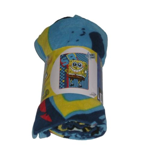 Nickelodeon Spongebob Micro Raschel Plush Throw Blanket Cuddly Soft at Sears.com