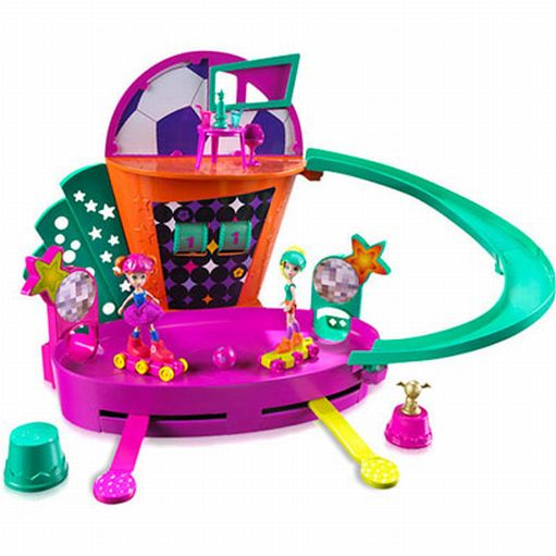 Polly Pocket Roller Skate Soccer Playset with Working Scoreboard 2 Polly Dolls at Sears.com