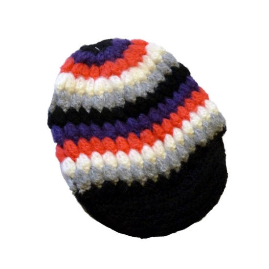 Ocean Pacific Womens Colorful Knit Newsboy Hat Black Pink Purple Stripes at Sears.com