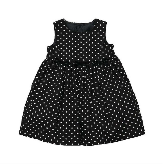 Carter's Carters Infant Girls Black & White Polka Dot Party Dress
