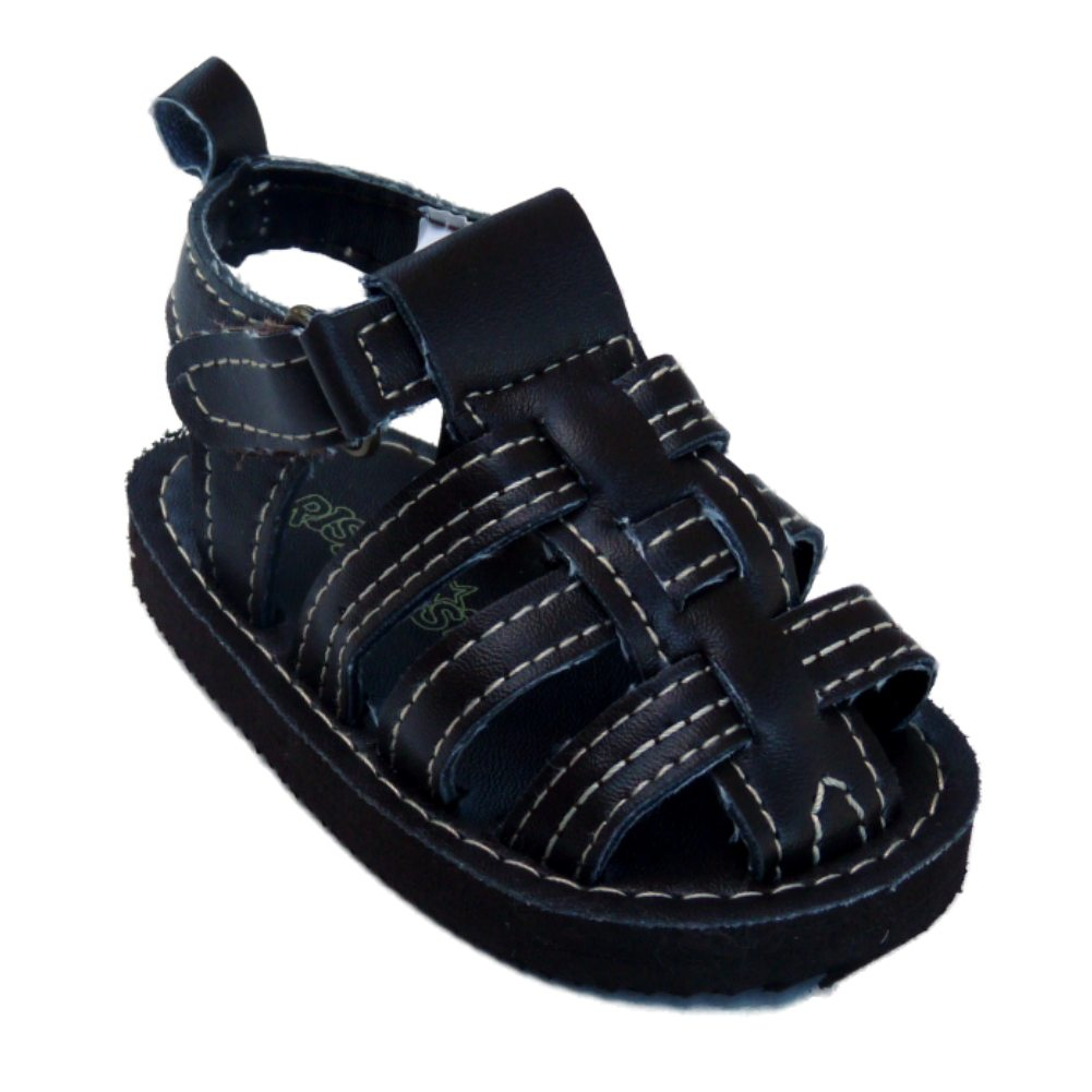 Rising Star Infant Boys Brown Sandals Soft Baby Crib Shoes