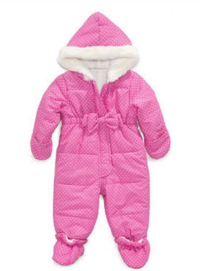 First Impressions Infant Girls Pink Polka Dot Snowsuit Baby Pram Snow Suit at Sears.com