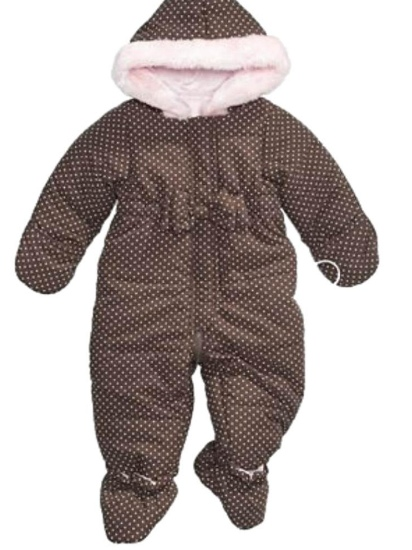 First Impressions Infant Girls Brown Polka Dot Snowsuit Baby Pram Snow Suit at Sears.com