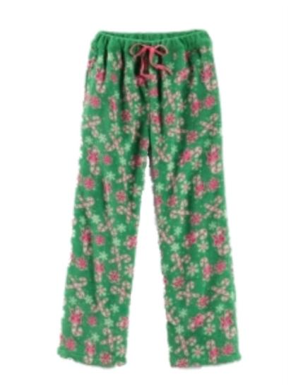 Girl Thing Girls Green Fleece Candy Cane Sleep Pants Pajamas PJS Pajama Bottoms at Sears.com