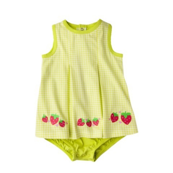 Carter's Carters Infant Girls Green Checks & Strawberries Creeper Body Suit Baby Dress at Sears.com