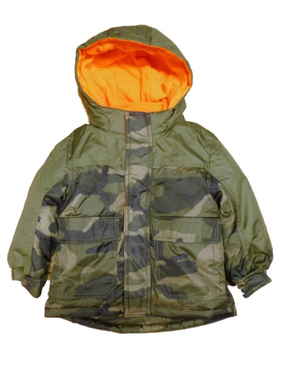 Healthtex Healthtex Infant & Toddler Boys Green Camouflage 3-In-1 Coat Camo Puffer Jacket