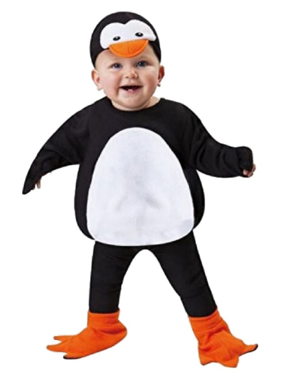 Totally Ghoul Totally Ghoul Toddler Boys Plush Black & White Penguin Costume Vest with Hat 2T