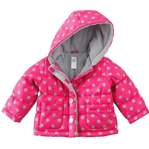 Carter's Carters Infant Girls Pink & Gray Polka Dot Winter Ski Jacket Hooded Coat at Sears.com
