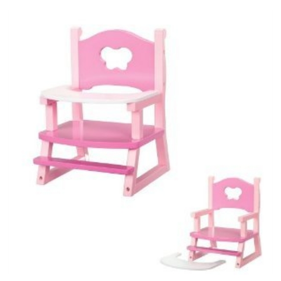 our generation baby doll wooden high chair with tray ebay
