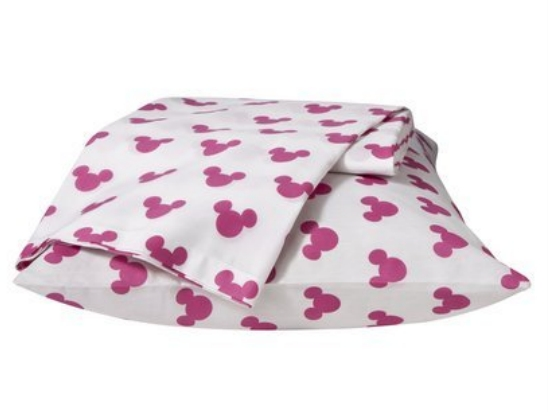 Disney Girls Minnie Mouse Pink Twin Size Sheet Set Single Bed Sheets Mickey Ears at Sears.com