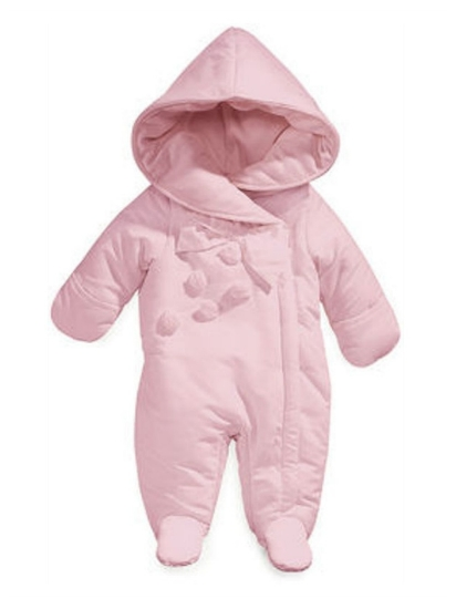 First Impressions Infant Girls Pink Rosette Snowsuit Baby Pram Snow Suit at Sears.com
