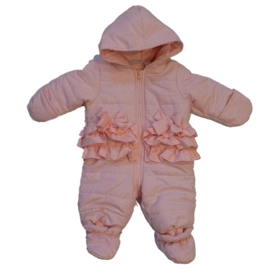 First Impressions Infant Girls Pink Ruffle Snowsuit Baby Pram Snow Suit at Sears.com