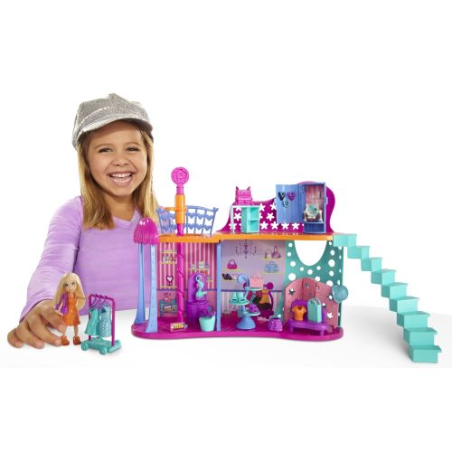 Polly Pocket Super Style Shops Playset with 2 Floors Polly Doll & 30+ Pieces at Sears.com