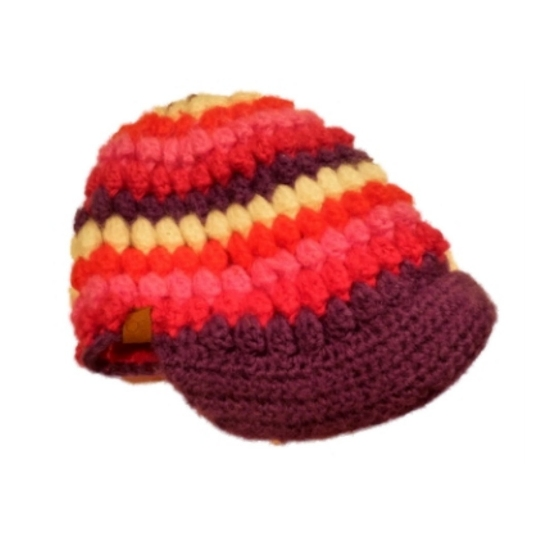 Ocean Pacific Womens Colorful Knit Newsboy Hat Purple Pink Red OP at Sears.com