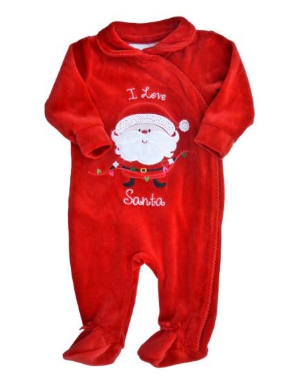 Koala Kids Infant Girls Red Velvet Holiday Sleeper I Love Santa Sleep & Play at Sears.com