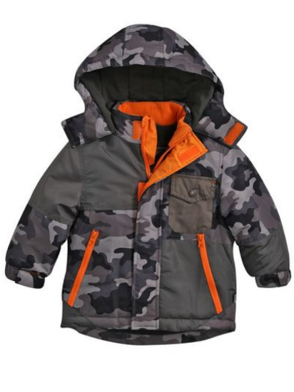 Rothschild Rothschild Infant & Toddler Boys Gray Camouflage Coat Winter Puffer Jacket