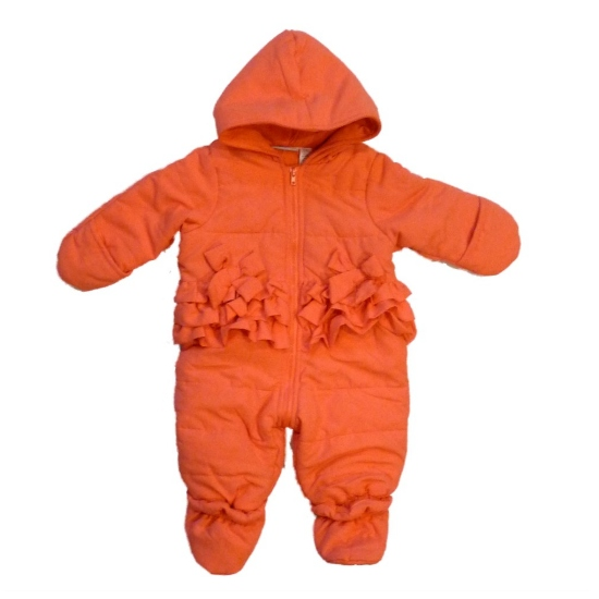First Impressions Infant Girls Orange Salmon Ruffle Snowsuit Baby Pram Snow Suit at Sears.com