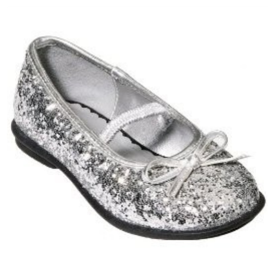 Circo Toddler Girls Silver Glitter Dress Shoes Melody