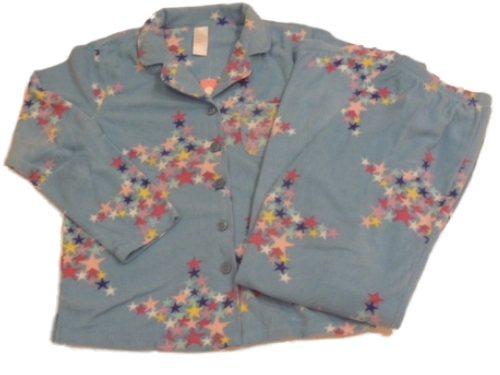 Covington Womens Blue Stars Fleece Pajamas Colorful PJ Cozy Pajama Set at Sears.com