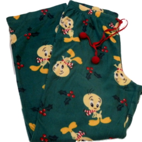 Looney Tunes Womens Green Fleece Tweety Bird Sleep Pants Pajama Bottoms Lounge at Sears.com