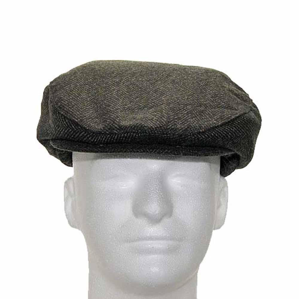 ENGLISH DRIVER Herringbone Wool Ivy Cap Hat Scaly