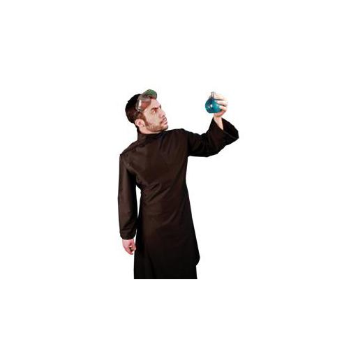 steampunk mad scientist lab coat black adult deluxe costume