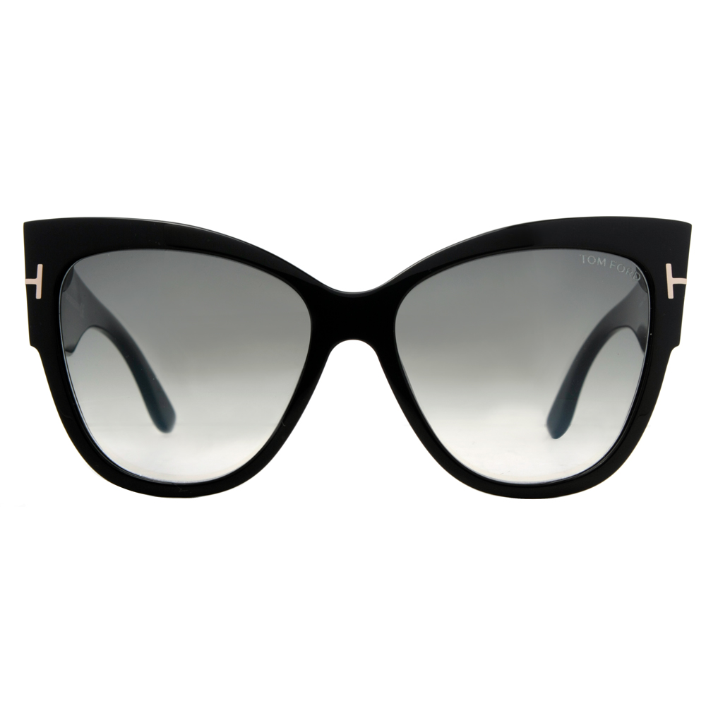 tom ford anoushka tf371 01b black gray gradient women 39 s cat eye. Cars Review. Best American Auto & Cars Review