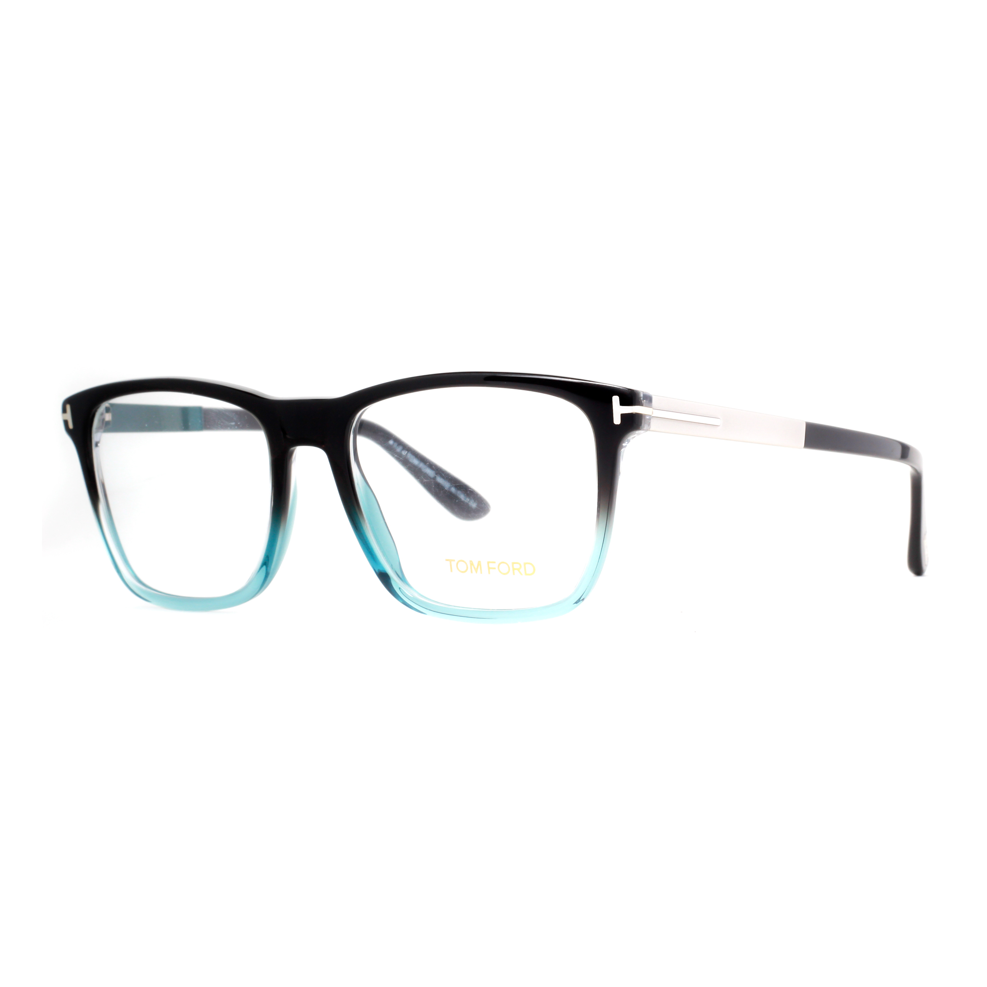 Tom Ford TF 5351 05A Black/Clear Aqua Blue/Gunmetal Mens ...