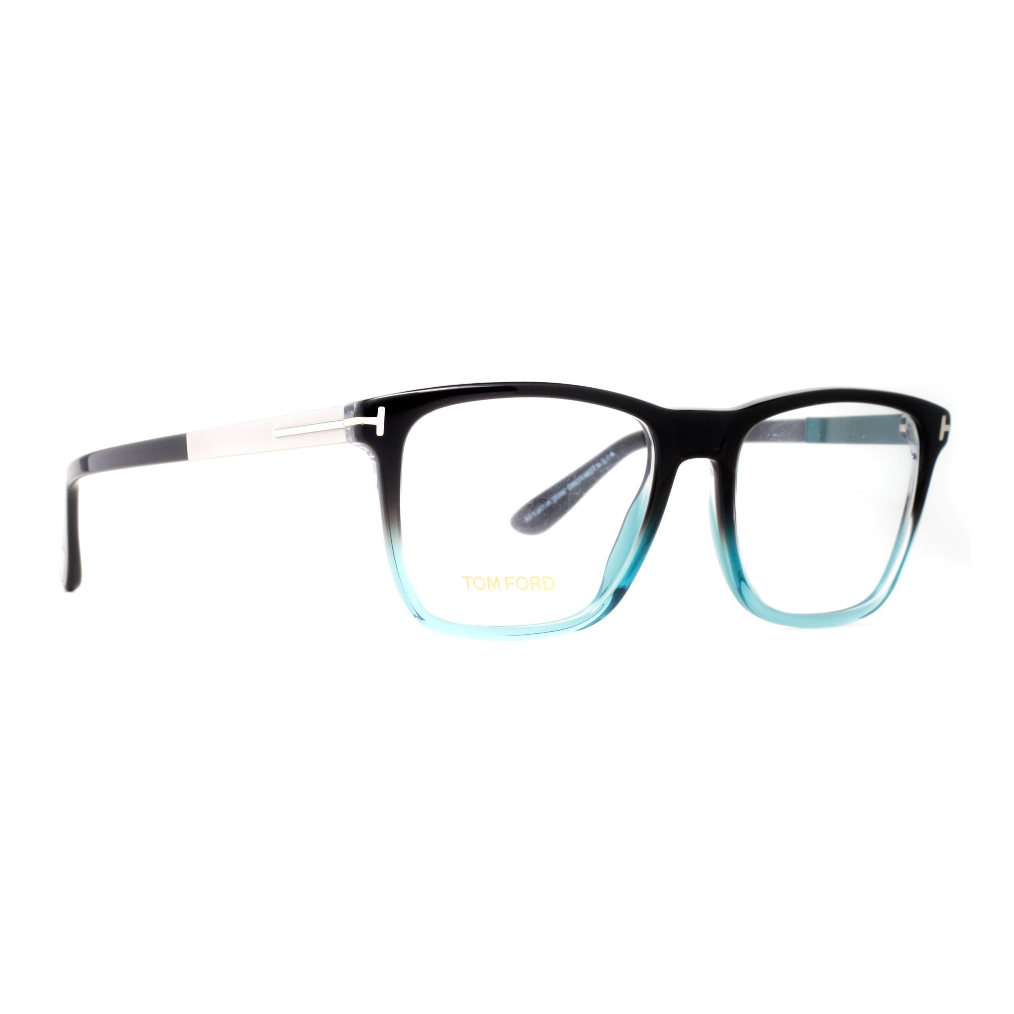 Aqua Blue Glasses Frames : Tom Ford TF 5351 05A Black/Clear Aqua Blue/Gunmetal Mens ...