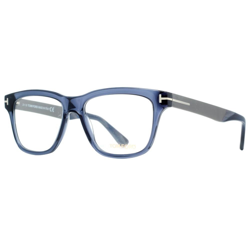 Tom Ford TF 5372 090 52mm Transparent Blue/Gunmetal ...