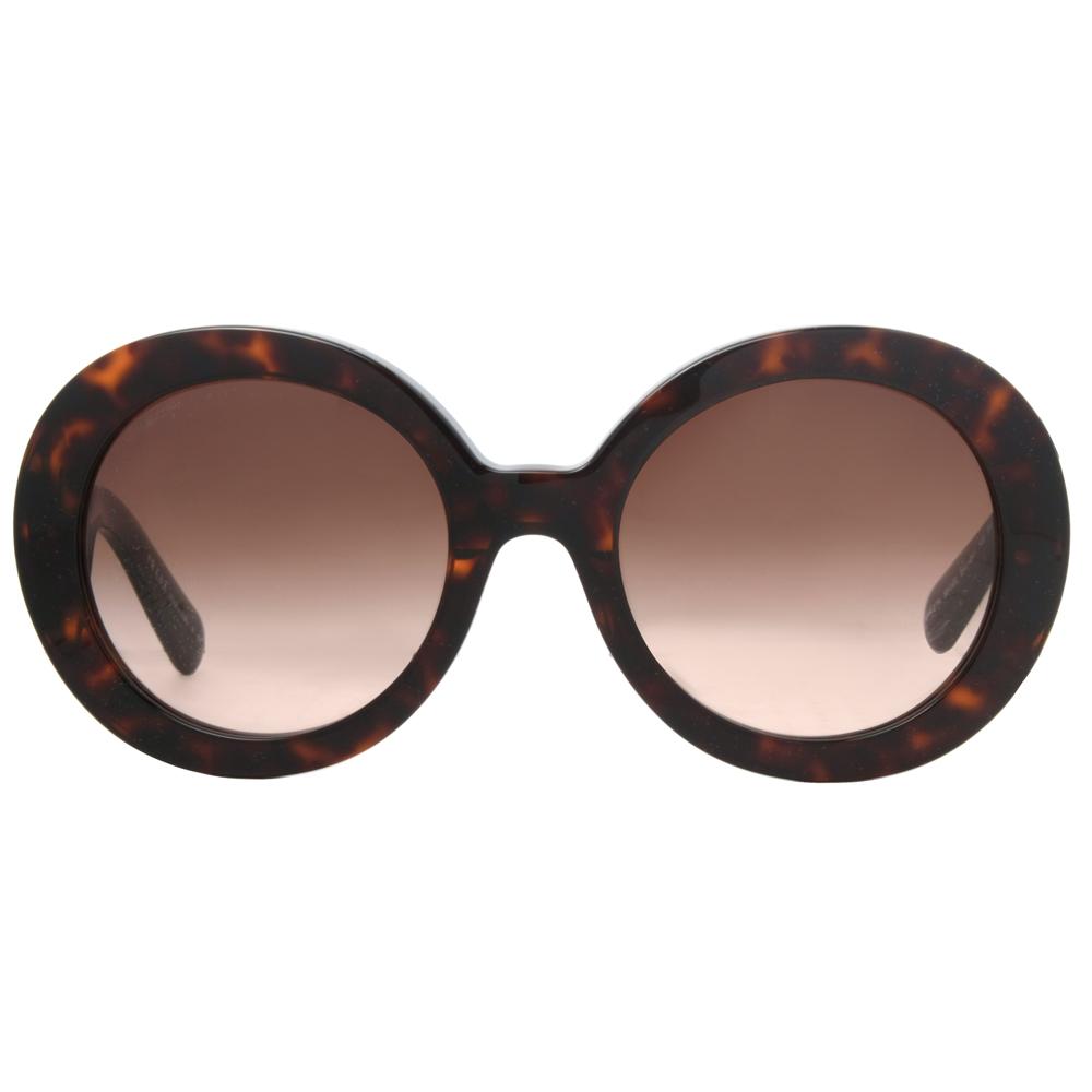 prada spr 27n round baroque swirl womens sunglasses
