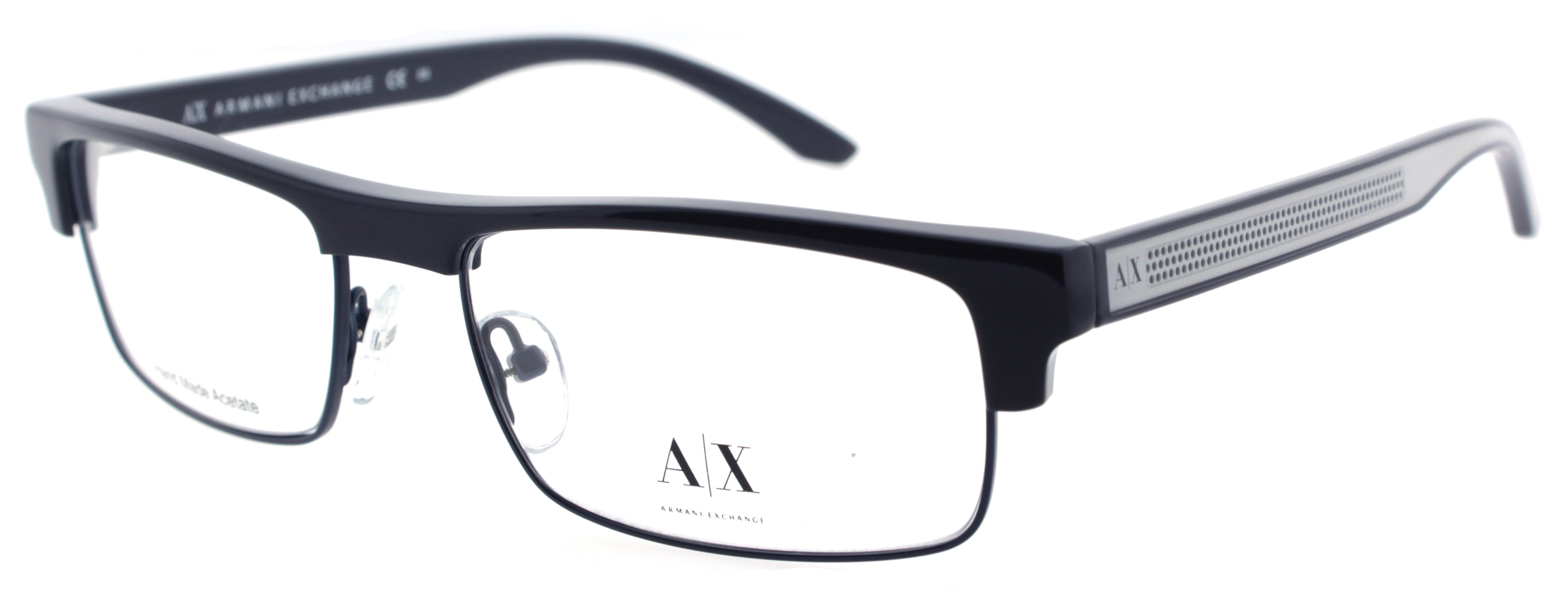 Armani Glasses Frames White : Armani Exchange AX 157 GN4 Blue White AX157 Full Frame ...