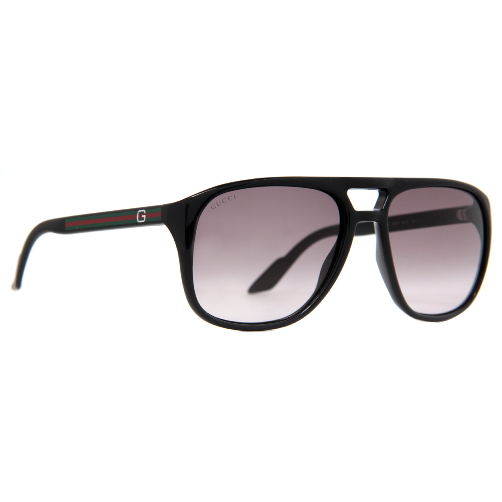 mens black aviators  Gucci GG 1018/S Men\u0026#039;s Gradient Aviator Sunglasses- Havana and ...