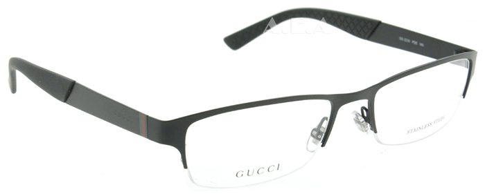 Gucci GG 2230 PDE 54mm Matte Black Titanium Semi-rimless ...