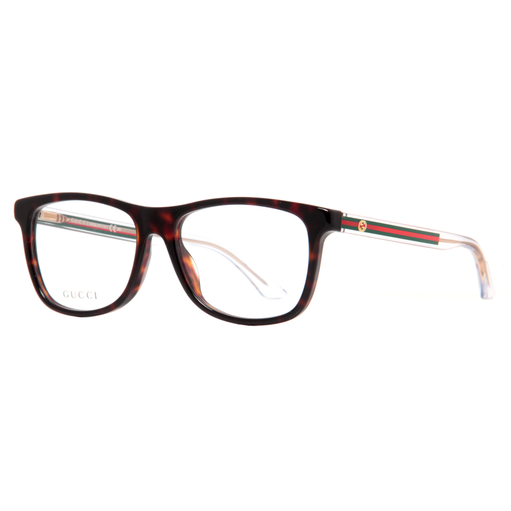Gucci GG 3725 WZ3 Dark Havana Green/Red Unisex Eyeglasses ...