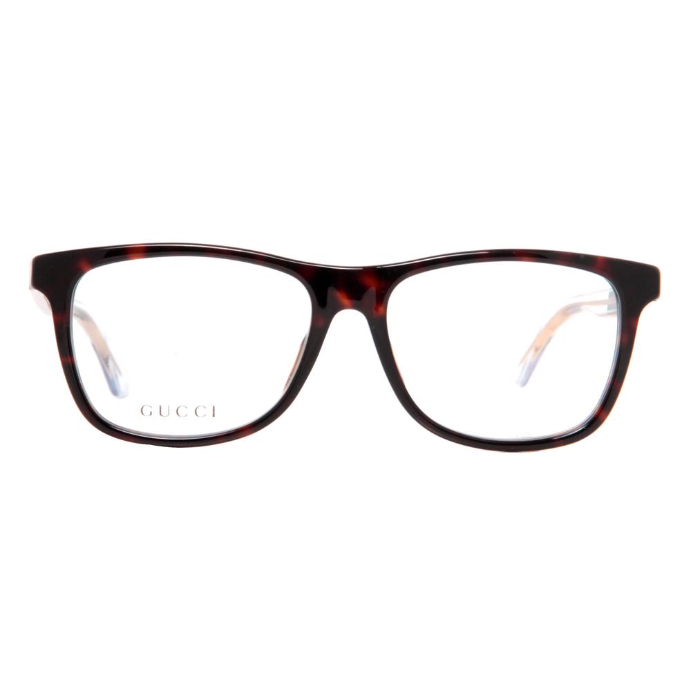 Gucci GG 3725 WZ3 Dark Havana Green/Red Unisex Eyeglasses ...