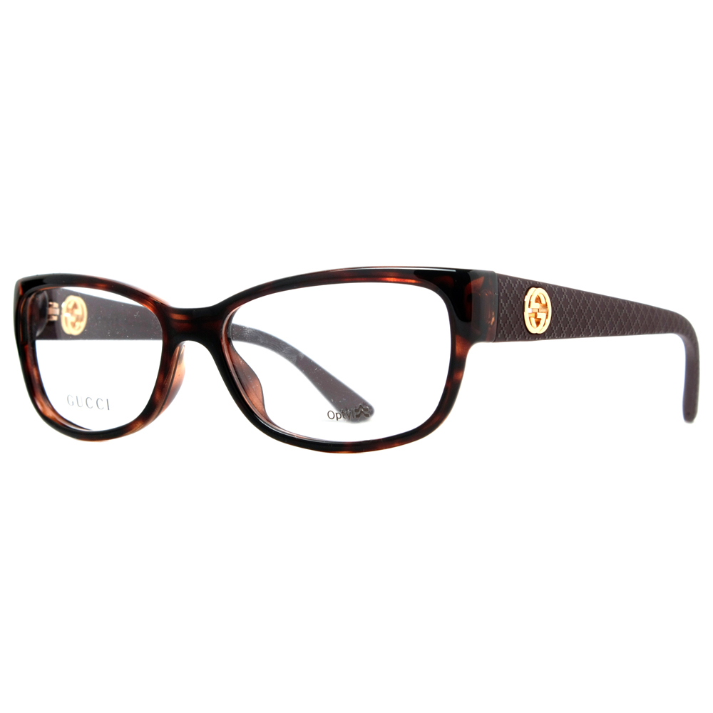 Gucci GG 3790 LWF Dark Havana Gold Womens Rectangular ...