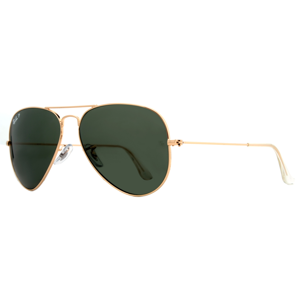 ray ban rb3025 polarized price  Ray Ban RB 3025 001/58 62mm Gold G-15 Polarized Large Aviator ...