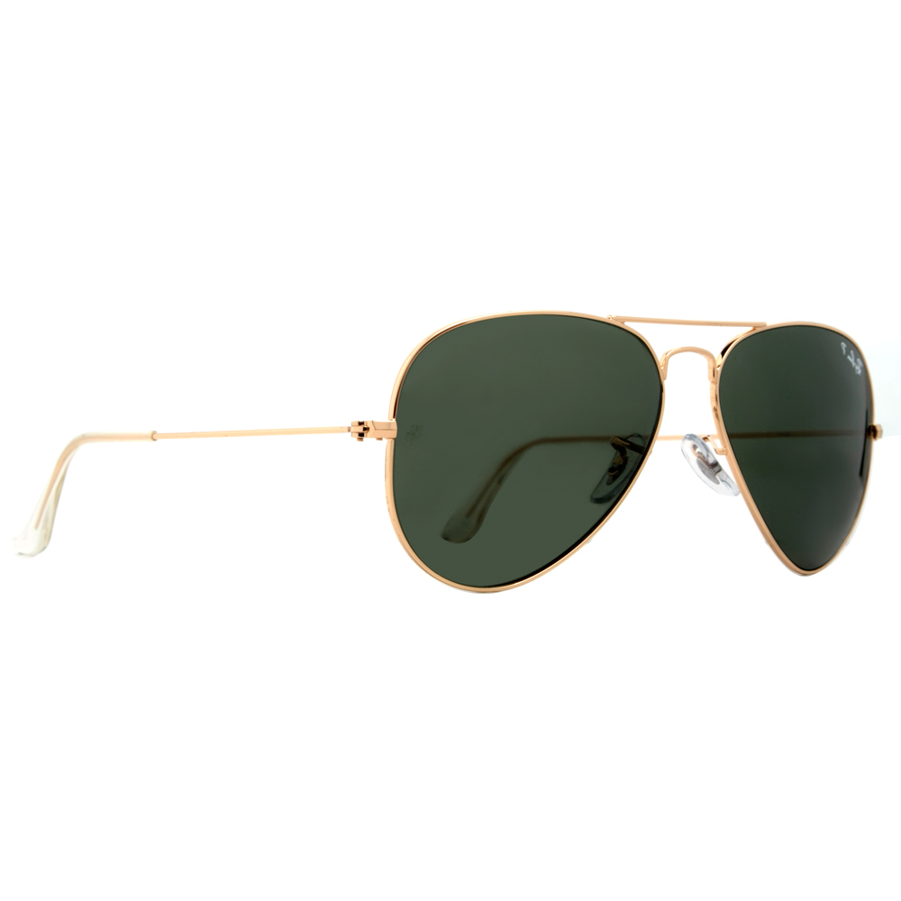 ray ban 3025 polarised  Ray Ban RB 3025 001/58 62mm Gold G-15 Polarized Large Aviator ...
