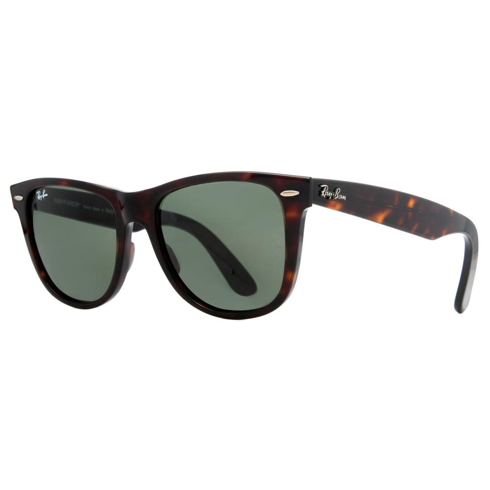 ray ban rb 2140 902 50mm tortoise green classic original wayfarer sunglasses ebay. Black Bedroom Furniture Sets. Home Design Ideas