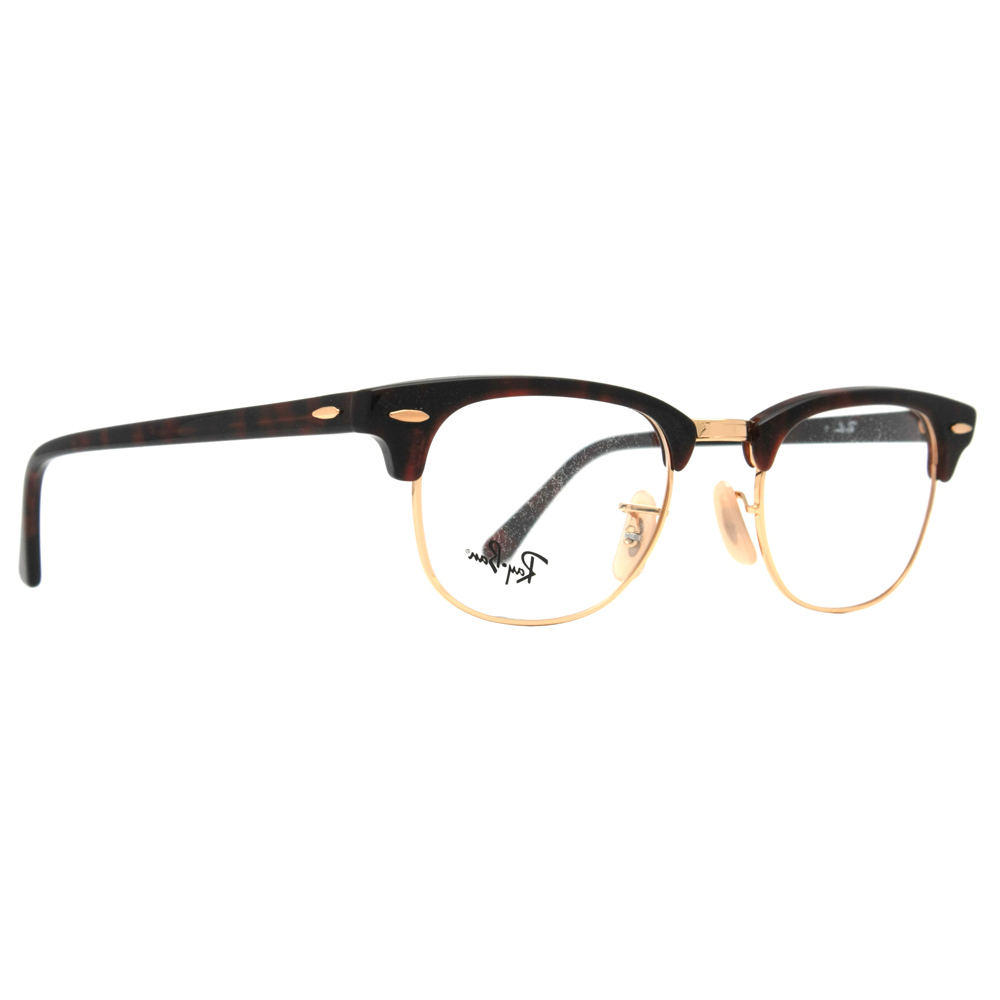 ban clubmaster eyeglasses black and gold for sale