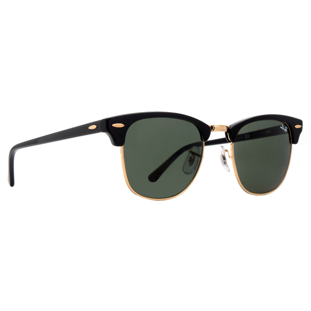 Ray Ban RB 3016 Clubmaster Unisex Sunglasses- Black and ...