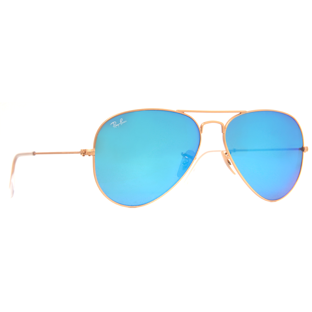 ray ban flash lenses  Ray Ban RB 3025 Mirrored Flash Lens Unisex Aviator Sunglasses