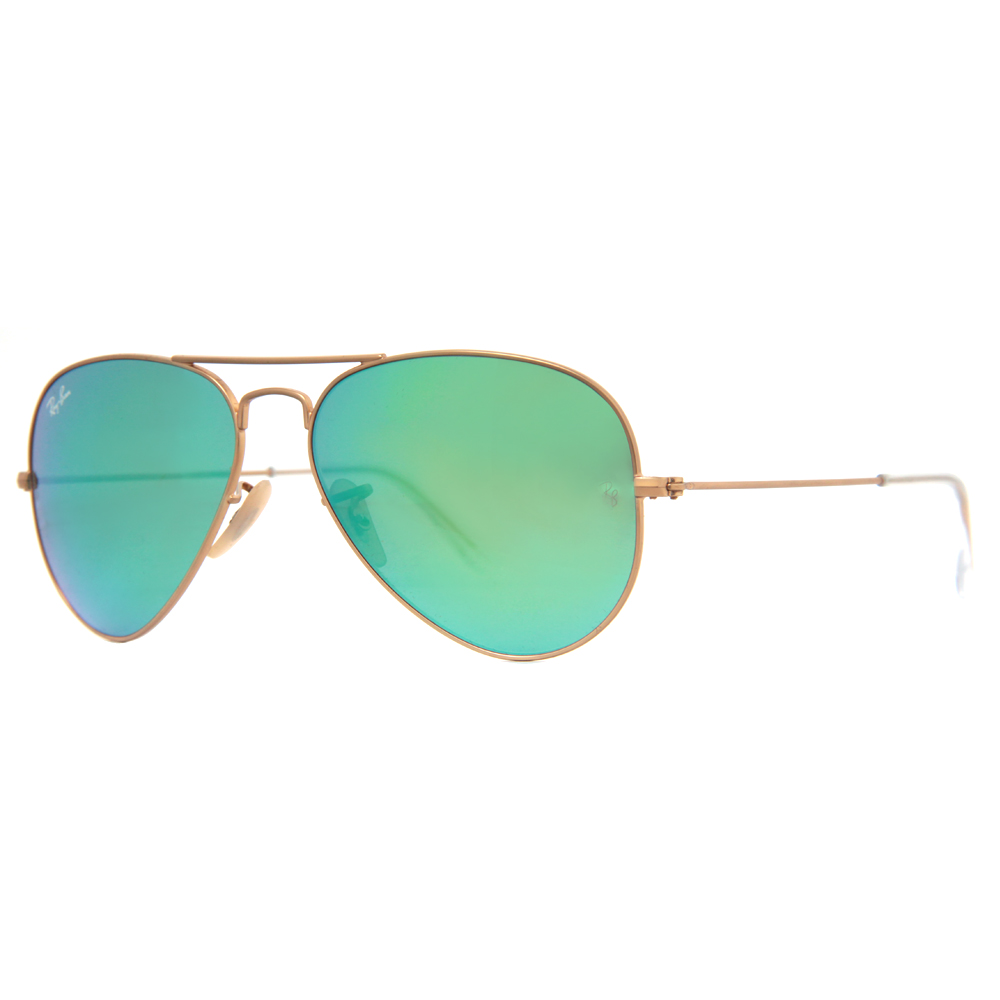 aviator ray ban rb3025  Ray Ban RB 3025 Mirrored Flash Lens Unisex Aviator Sunglasses