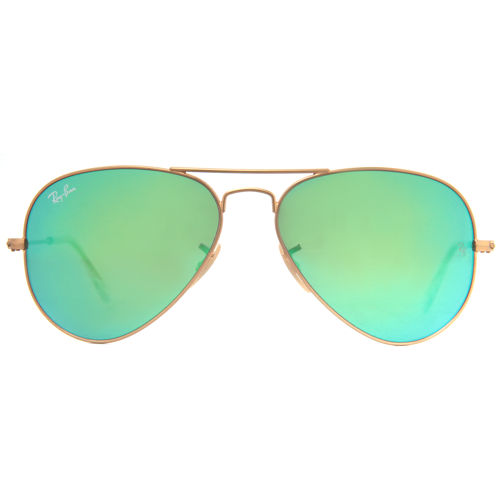 mirrored aviator sunglasses ray ban  Ray Ban RB 3025 Mirrored Flash Lens Unisex Aviator Sunglasses