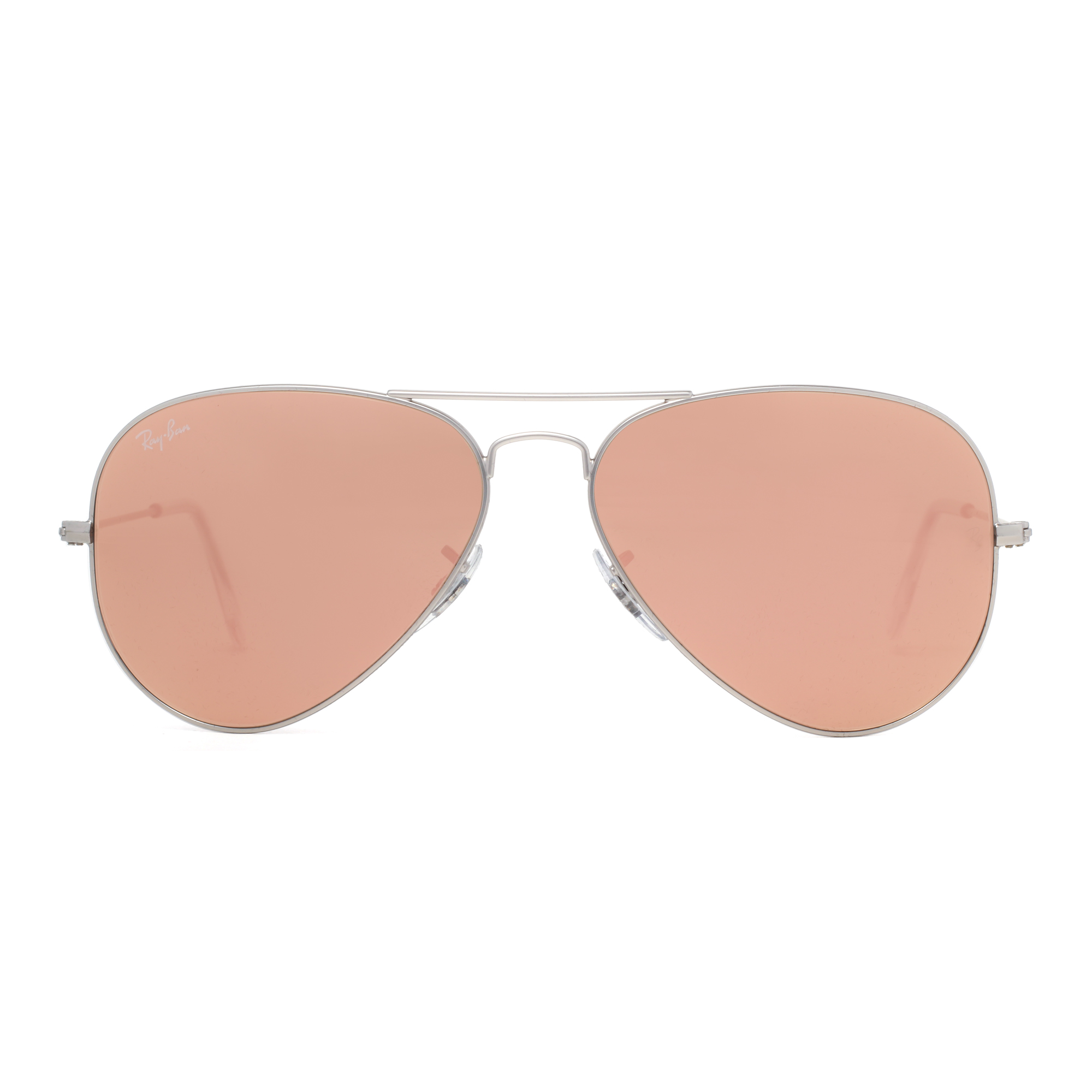 ray ban pink aviator  Ray Ban RB 3025 019/Z2 58mm Silver Copper/Pink Flash Lens Aviator ...