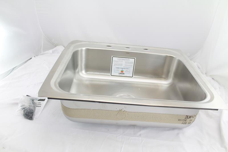 Moen G201963 2000 Series 20 Gauge Single Bowl Undermount Sink Stainless Steel Ebay