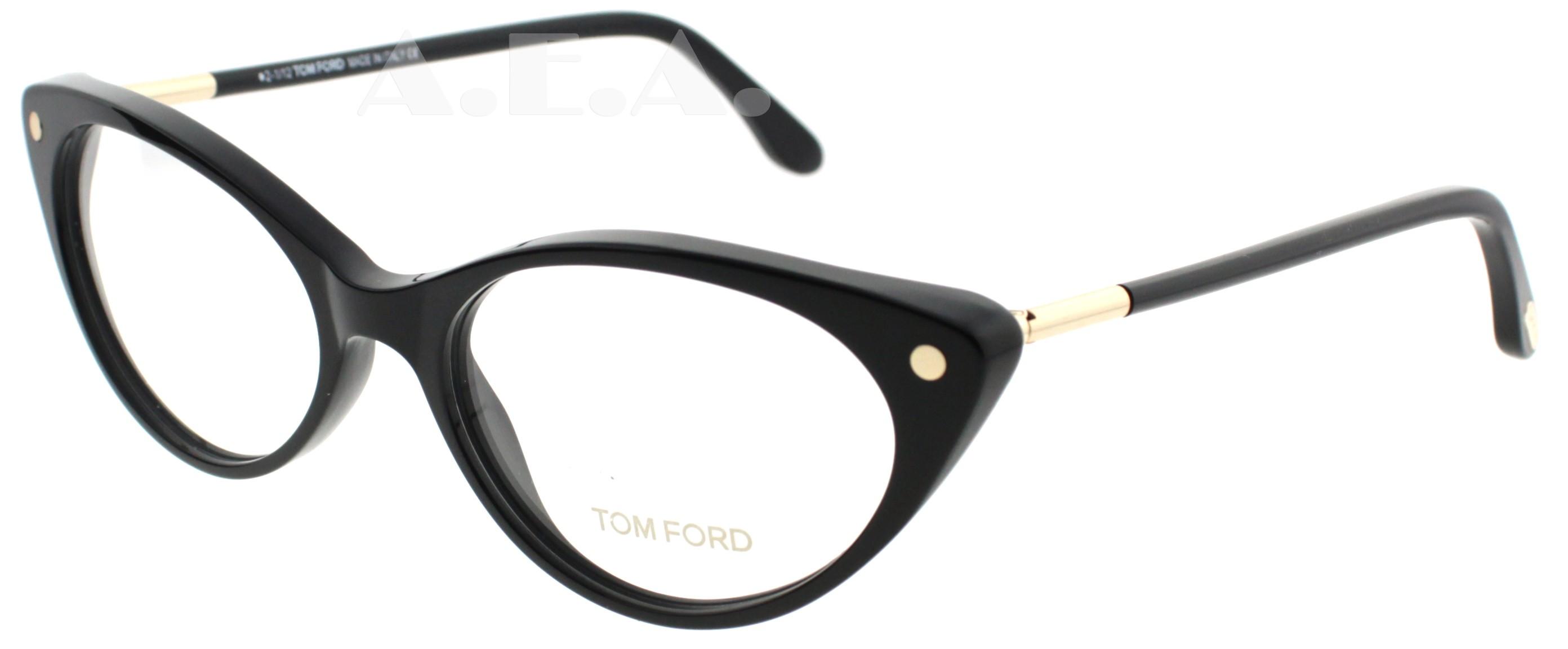 TOM FORD TF 5189/V BLACK 001 WOMENS CAT EYE DESIGNER ...